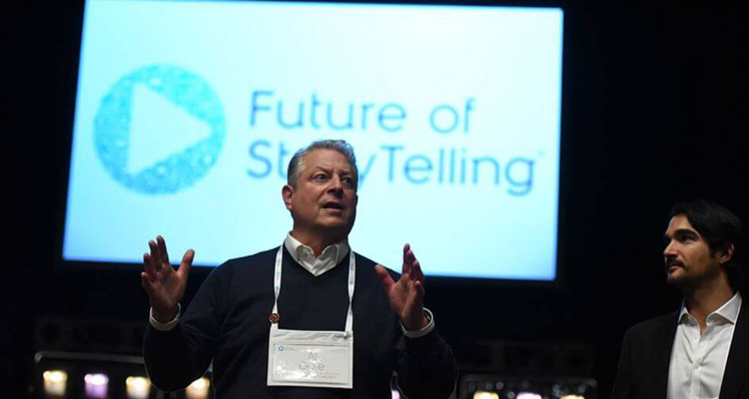 Al Gore - Future of Storytelling - Livestream support